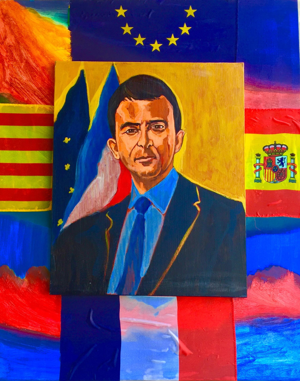 Manuel Valls acrylique 100 c 80 2015